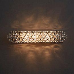 Silsbury Chrome Effect Wall Light
