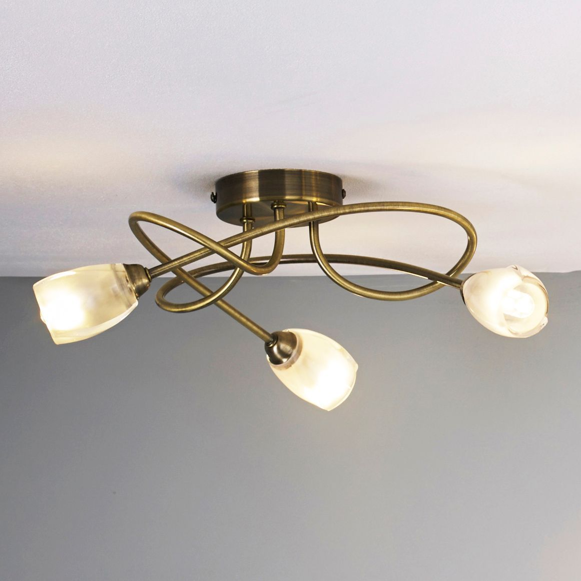 Forbes Clear 3 Lamp Ceiling Light