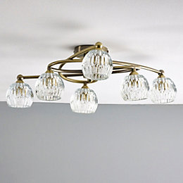 Steyning Clear 6 Lamp Ceiling Light