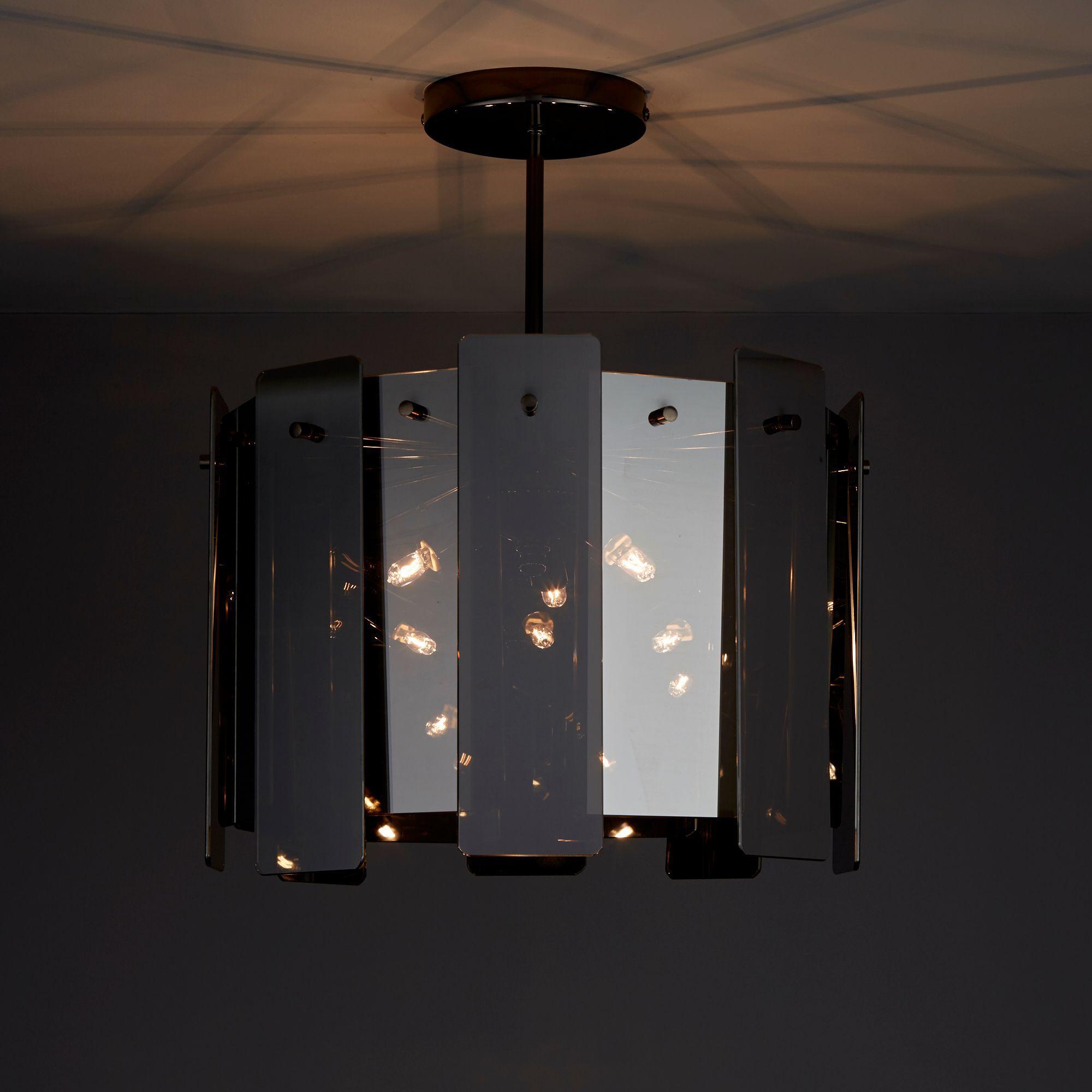 Jaulli Smoked 3 Lamp Pendant Ceiling Light