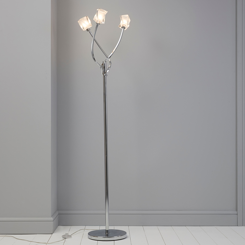 Borrello Chrome Effect Floor Light