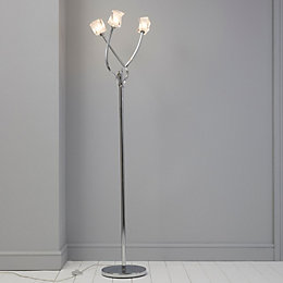 Borrello Silver Chrome Effect Floor Light