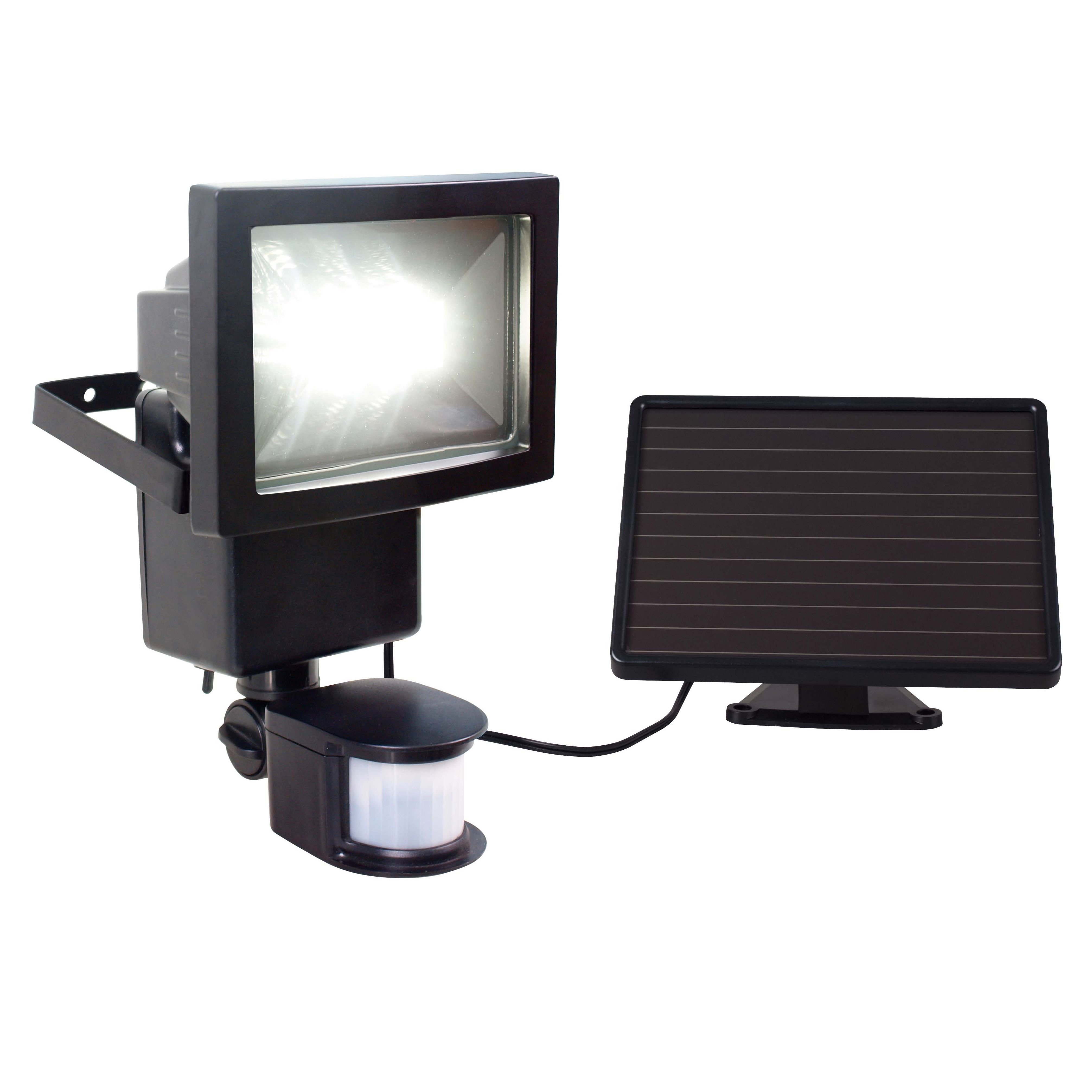 Solar Outside Security Lights Part - 17: Blooma Oceanus Black 8W Solar Powered External Pir