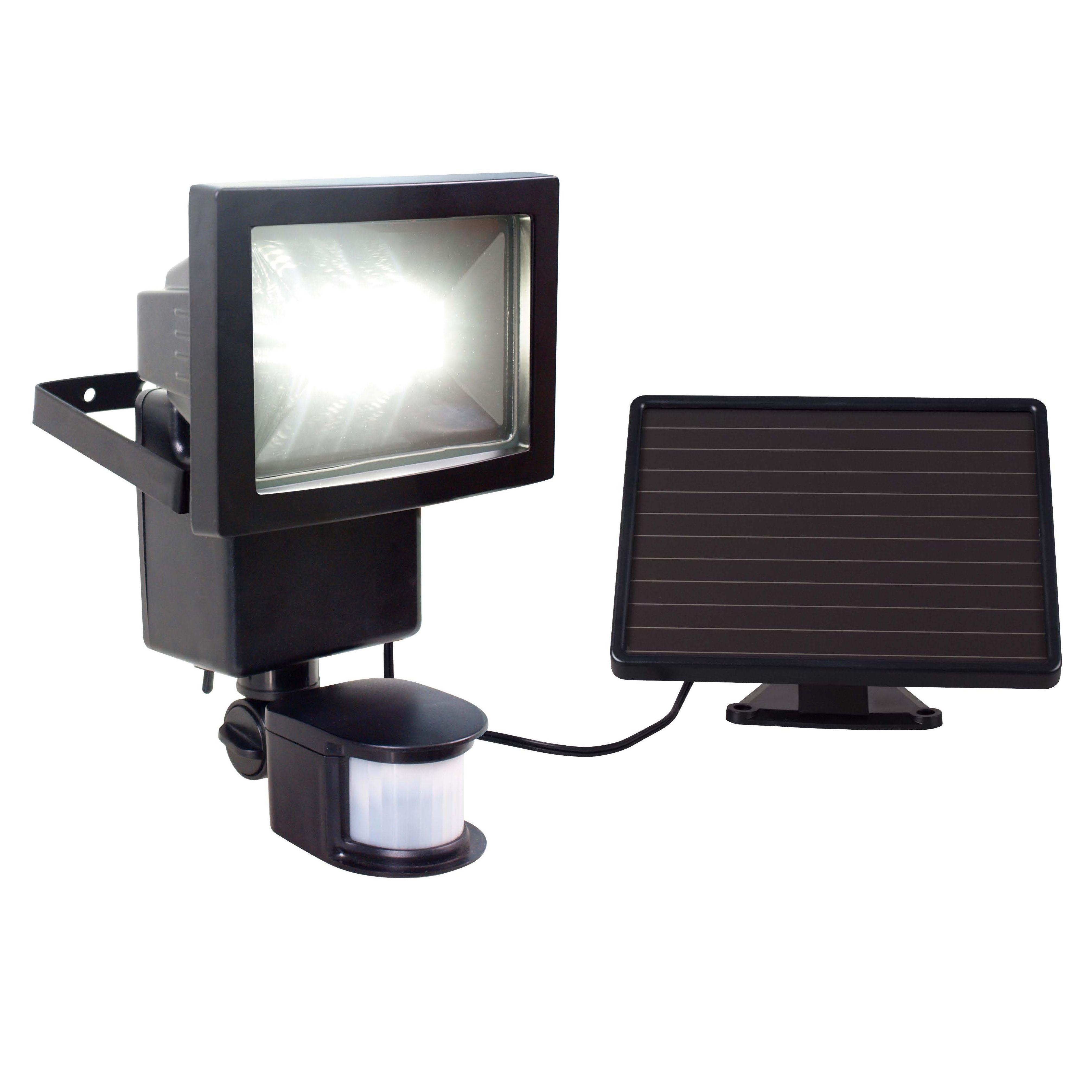 Blooma Oceanus Black 8w Solar Powered External Pir Security Light