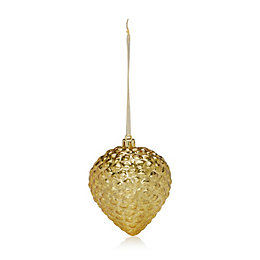 Distressed Finish Gold Onion Bauble