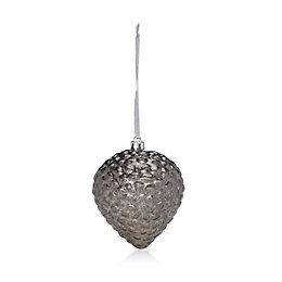 Distressed Finish Smoked Grey Onion Bauble