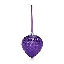 Distressed Finish Purple Onion Bauble