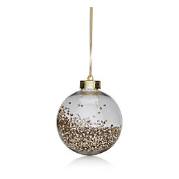 Clear with Champagne Bead Filling Bauble