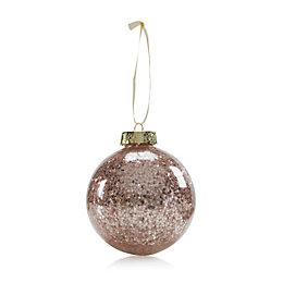Champagne Clear with Star Confetti Bauble