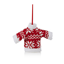 Knitted Red Nordic Jumper Tree Decoration