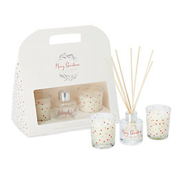 Merry Christmas Spiced Orange Diffuser & Candle Gift