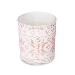 White Alpine Print Cranberry Woods Candle