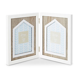 White Painted House Folding Picture Frame (H)215mm x