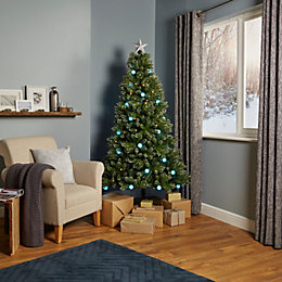 6ft 6In Rockingham Pre-Lit & Pre Decorated Christmas