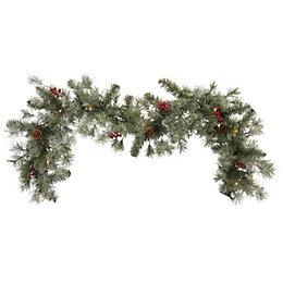 Fairview Green & Red LED Garland, (L)183cm