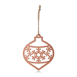 Copper Metal Cut-Out Onion Shaped Bauble