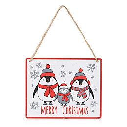 Penguin Family Sign Tree Decoration