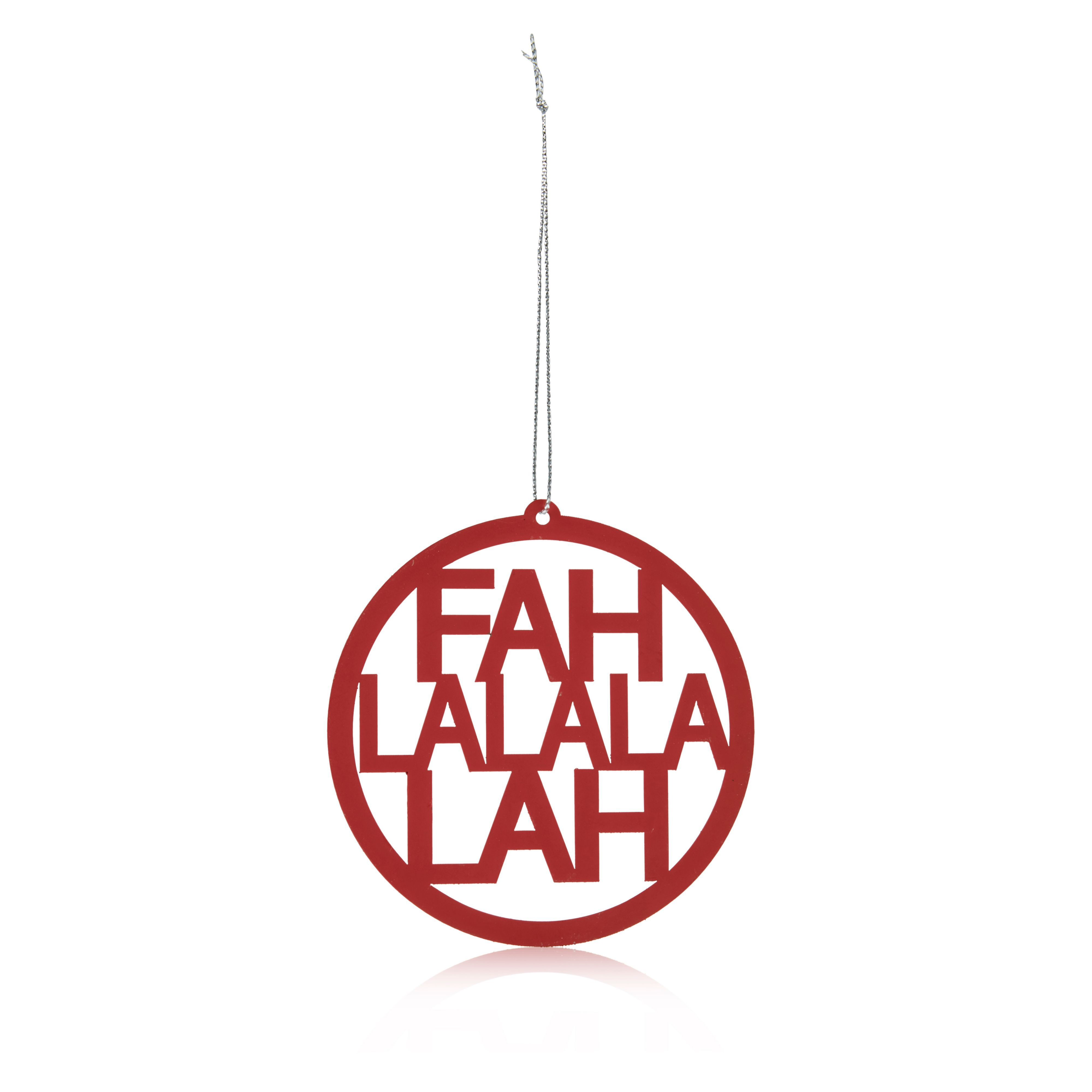 Metal Red Fah La La La Lah Tree Decoration