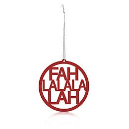 Metal Red Fah La La La Lah Tree