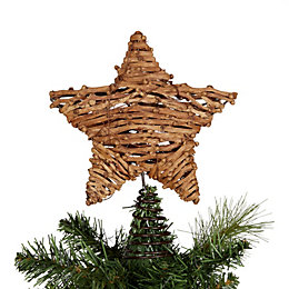 Rattan Effect Star Tree Topper