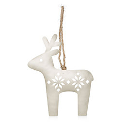 Champagne Metal Cutout Reindeer Tree Decoration