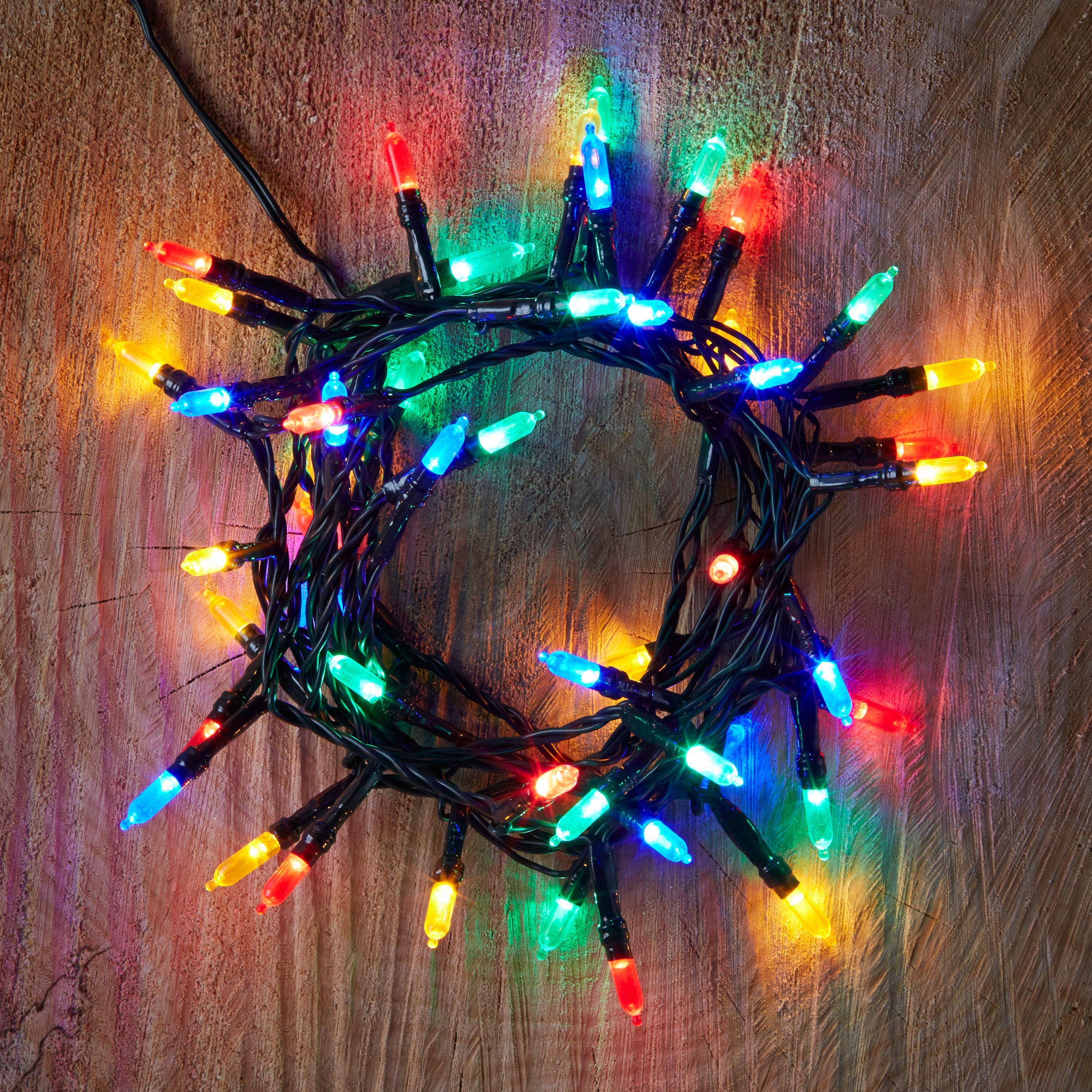 String Lights B And Q : 50 Multicolour LED String Lights Departments DIY at B&Q