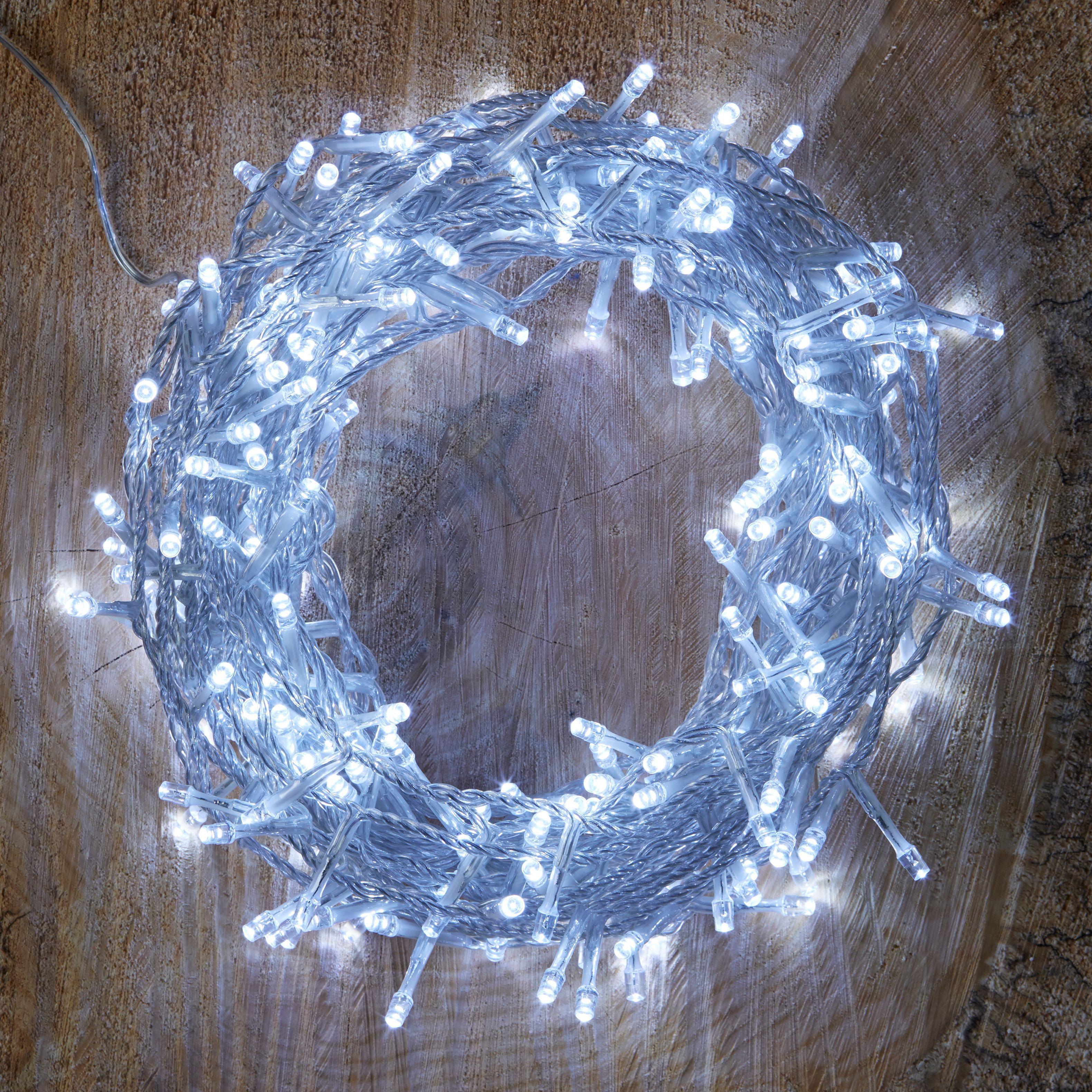 String Lights B And Q : 240 Ice White LED String Lights Departments DIY at B&Q
