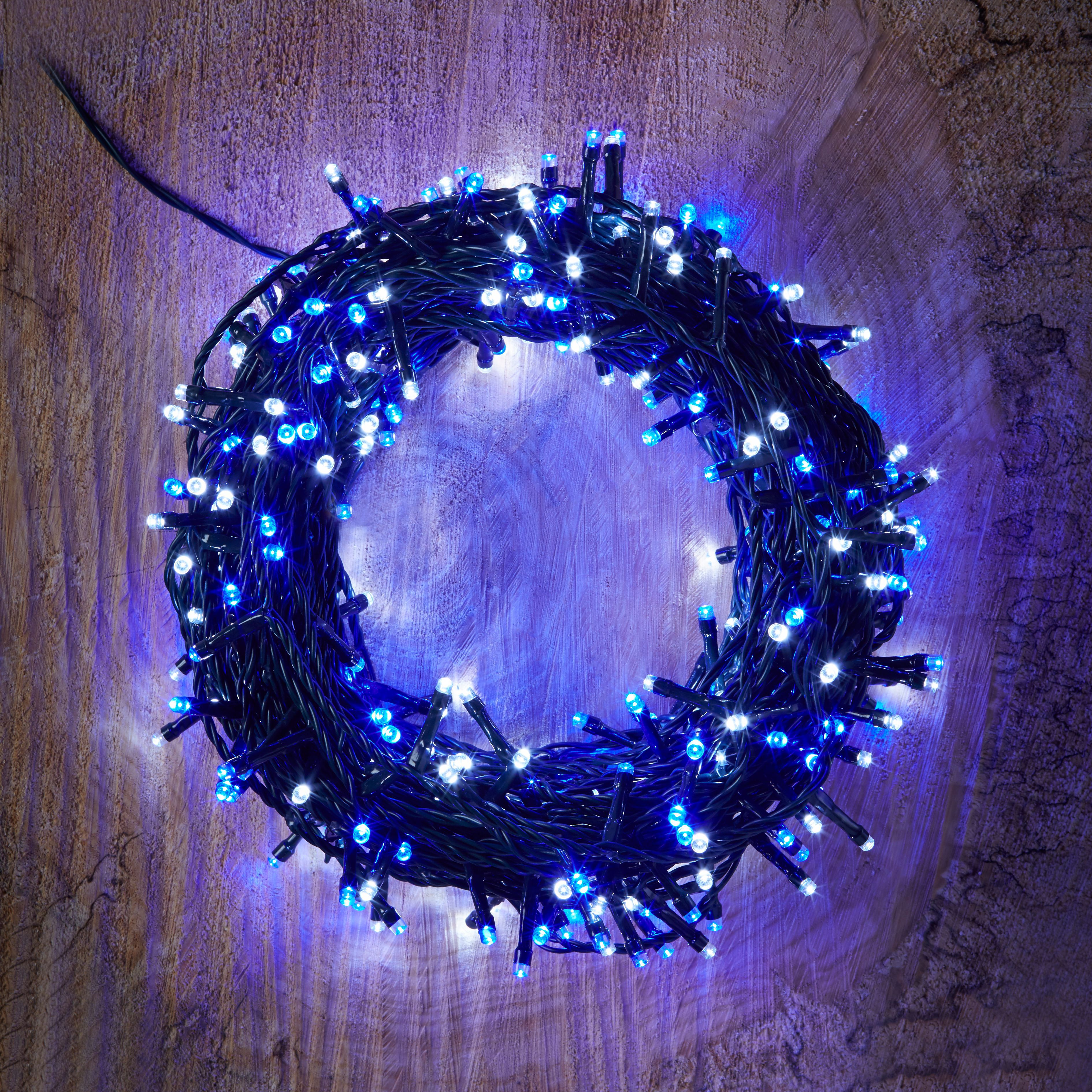 Led String Lights Diy : 400 Blue & White LED String Lights Departments DIY at B&Q