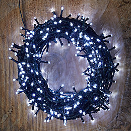 400 Ice White LED String Lights