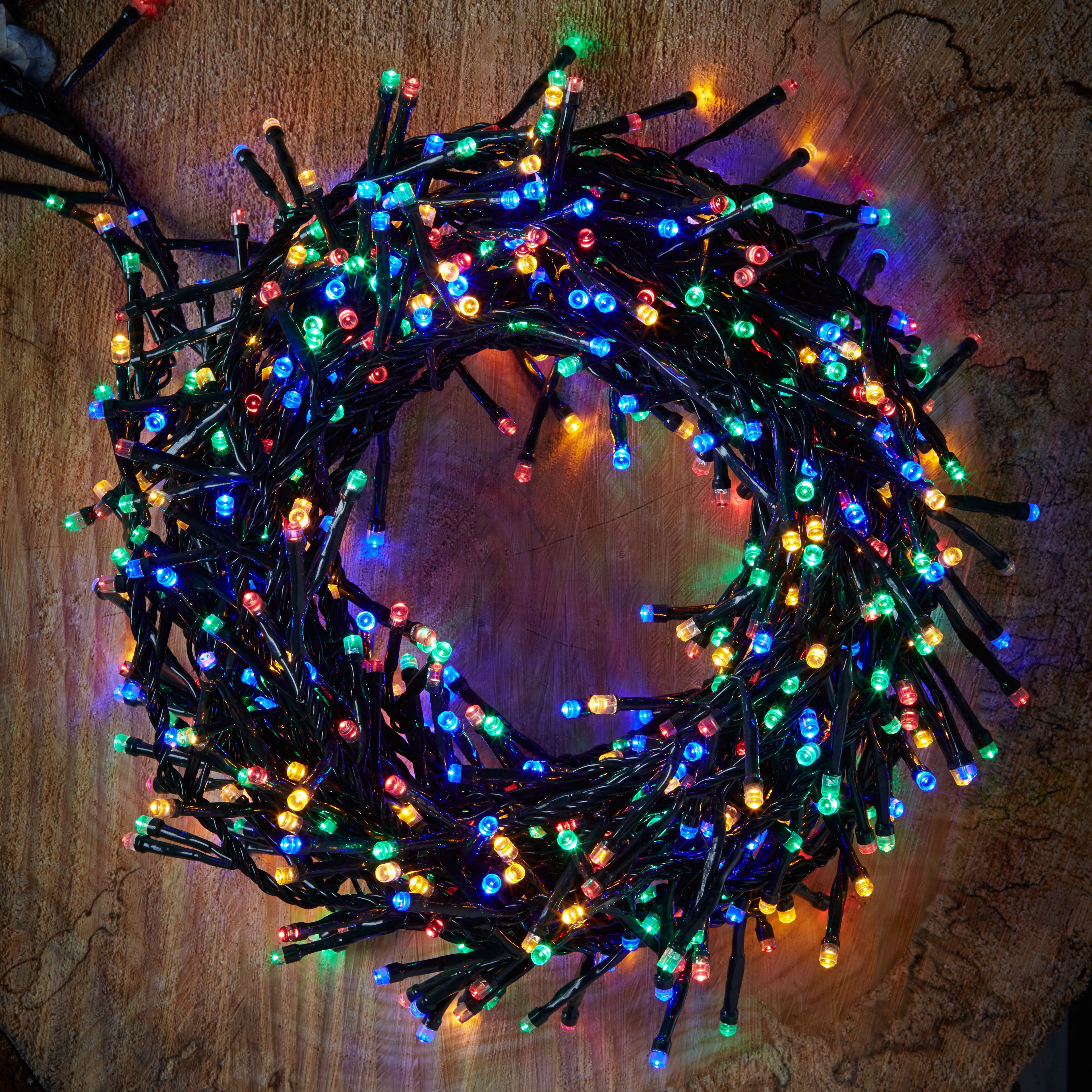 2000 Multicolour LED Cluster String Lights Departments DIY at B&Q