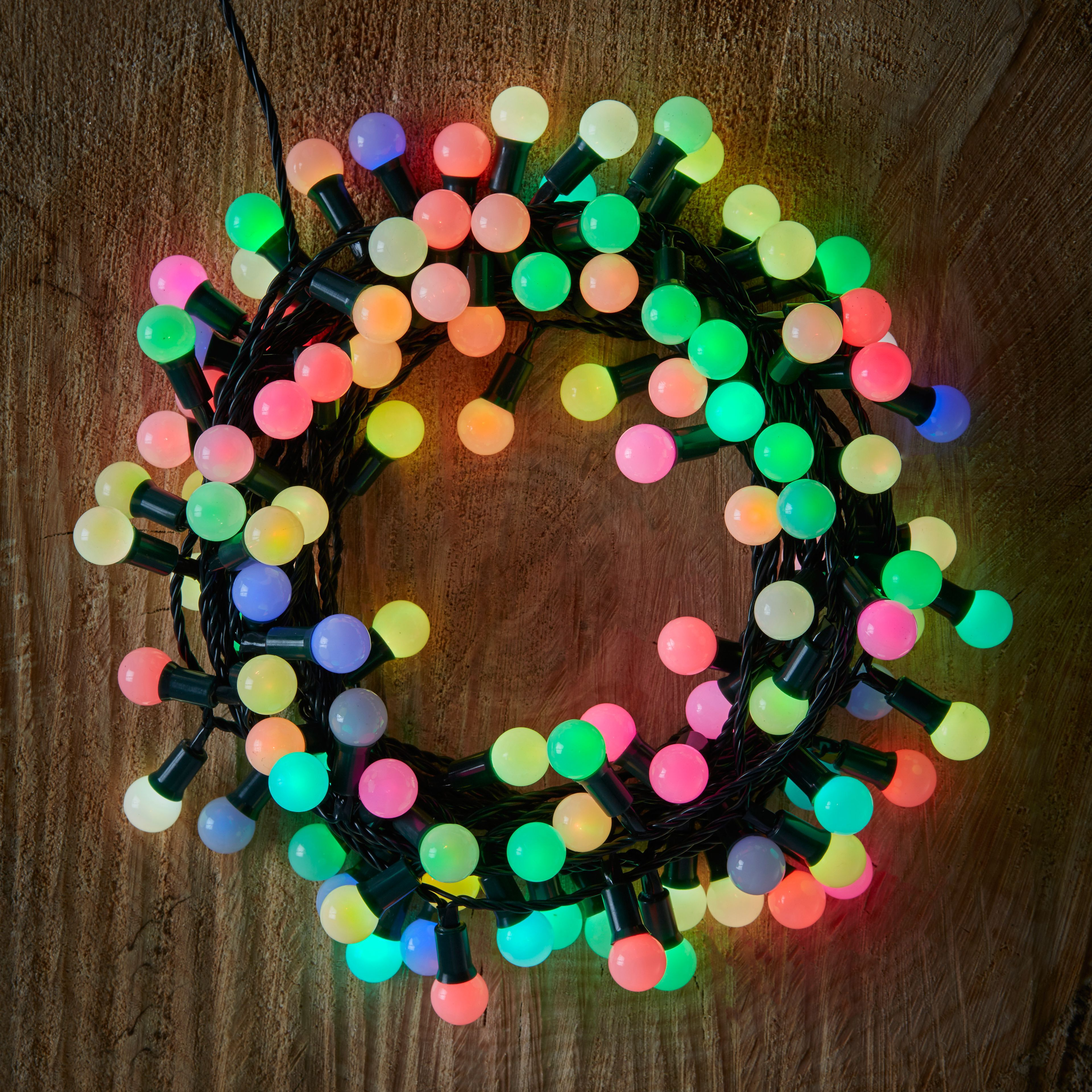 multicolour colour changing string lights