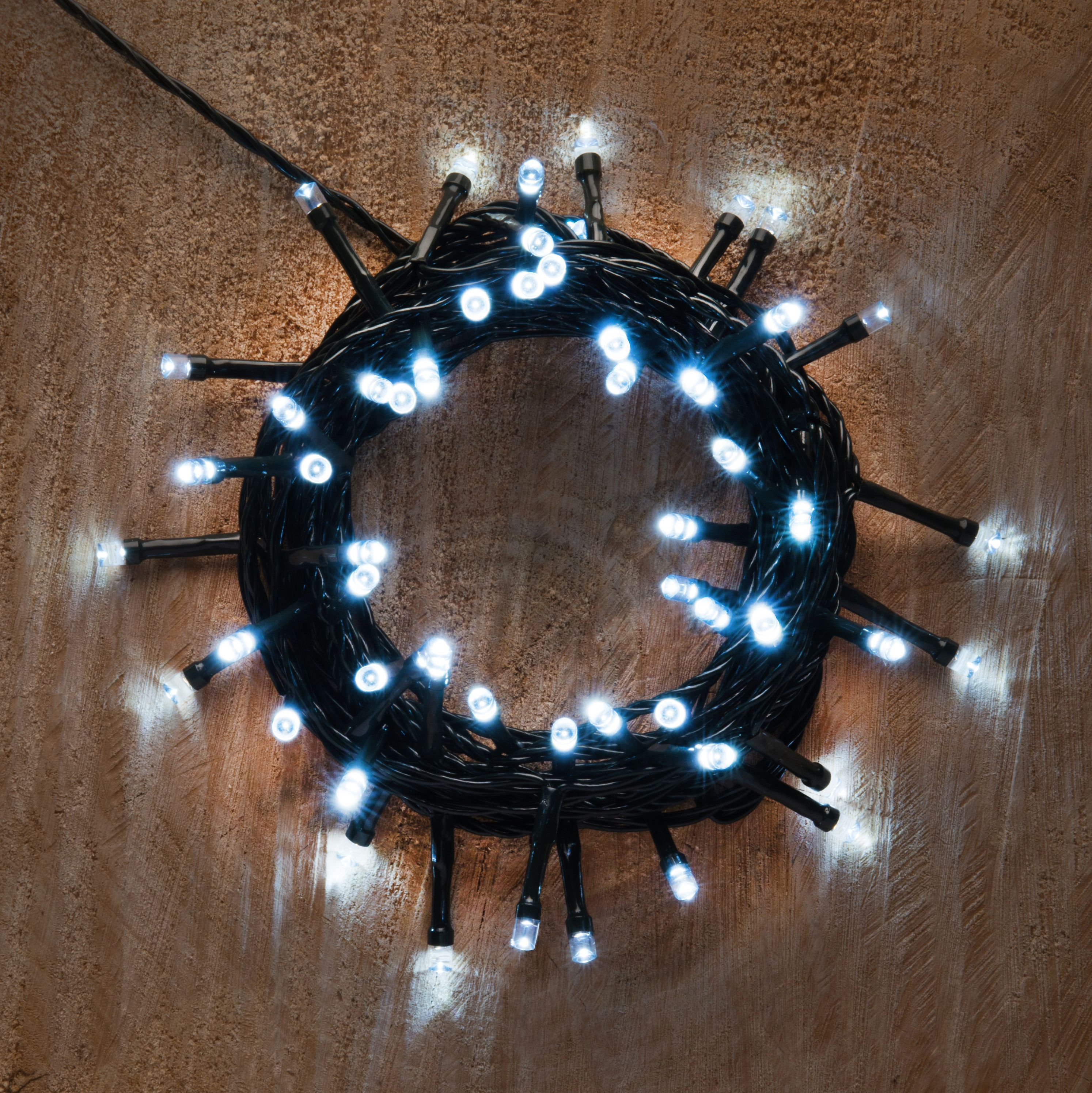 Led String Lights Diy : Battery Operated 50 Ice White LED String Lights Departments DIY at B&Q