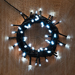 Battery Operated 50 Ice White LED String Lights