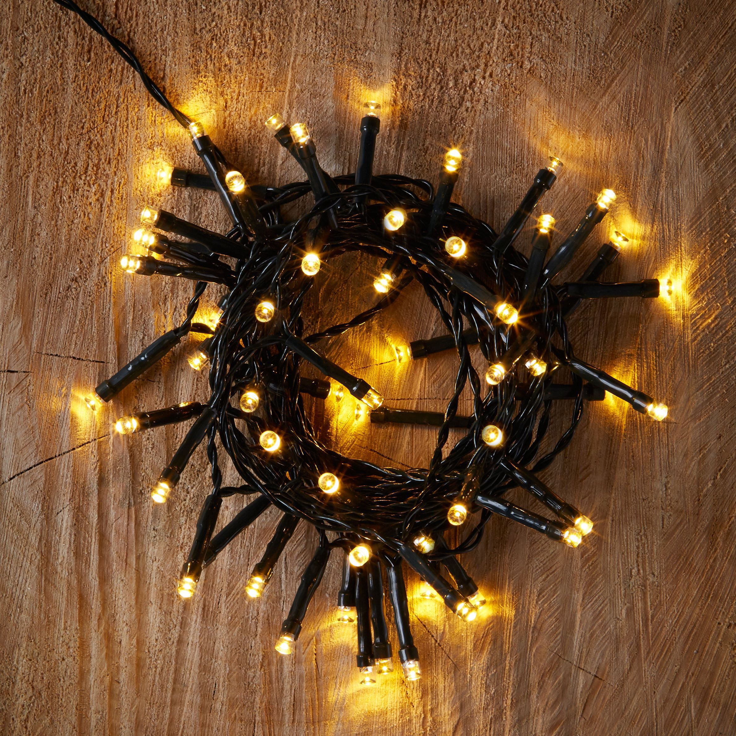 Led String Lights Diy : Battery Operated 50 Warm White LED String Lights Departments DIY at B&Q