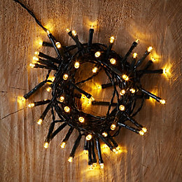 Battery Operated 50 Warm White LED String Lights