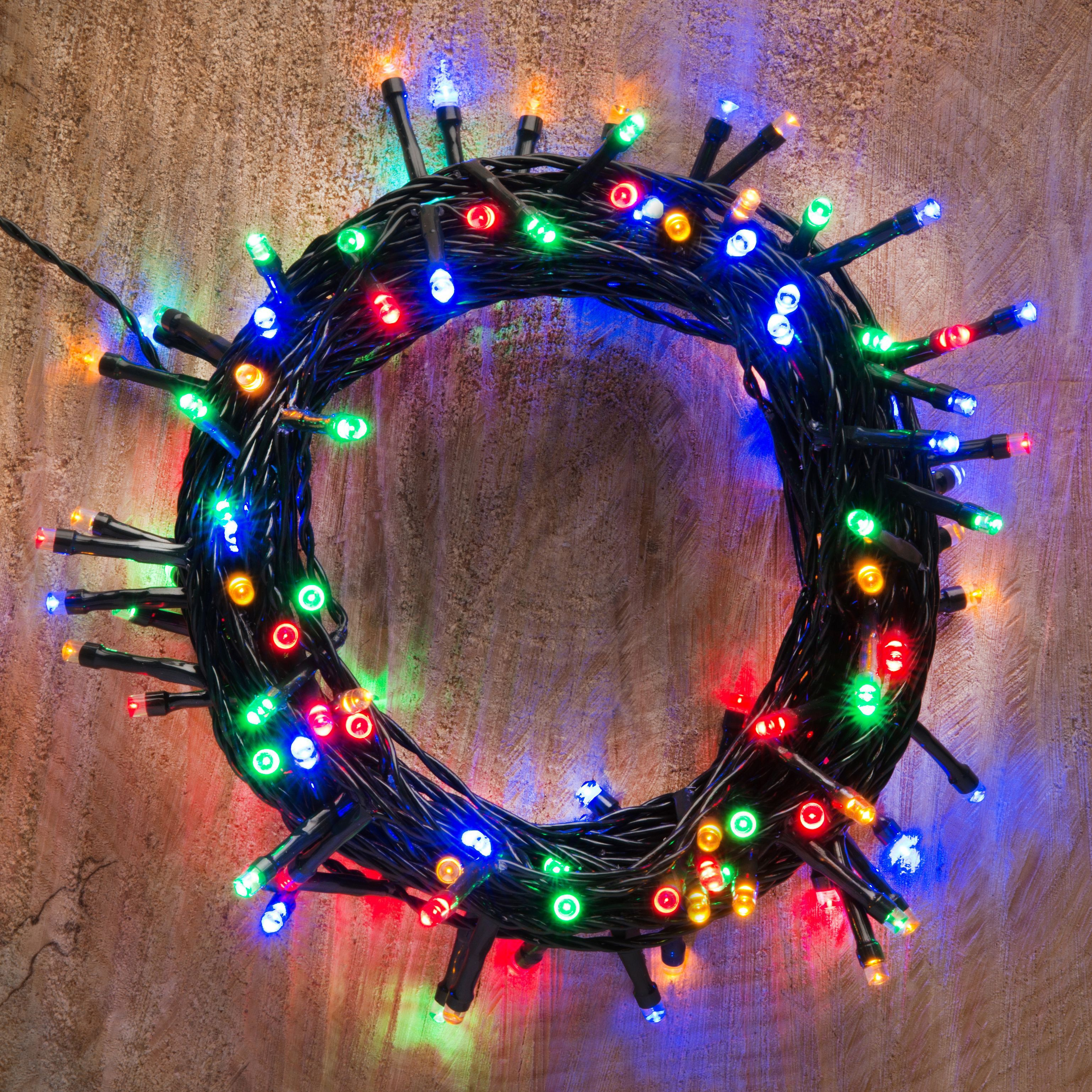 Led String Lights Diy : Battery Operated 120 Multicolour LED String Lights Departments DIY at B&Q