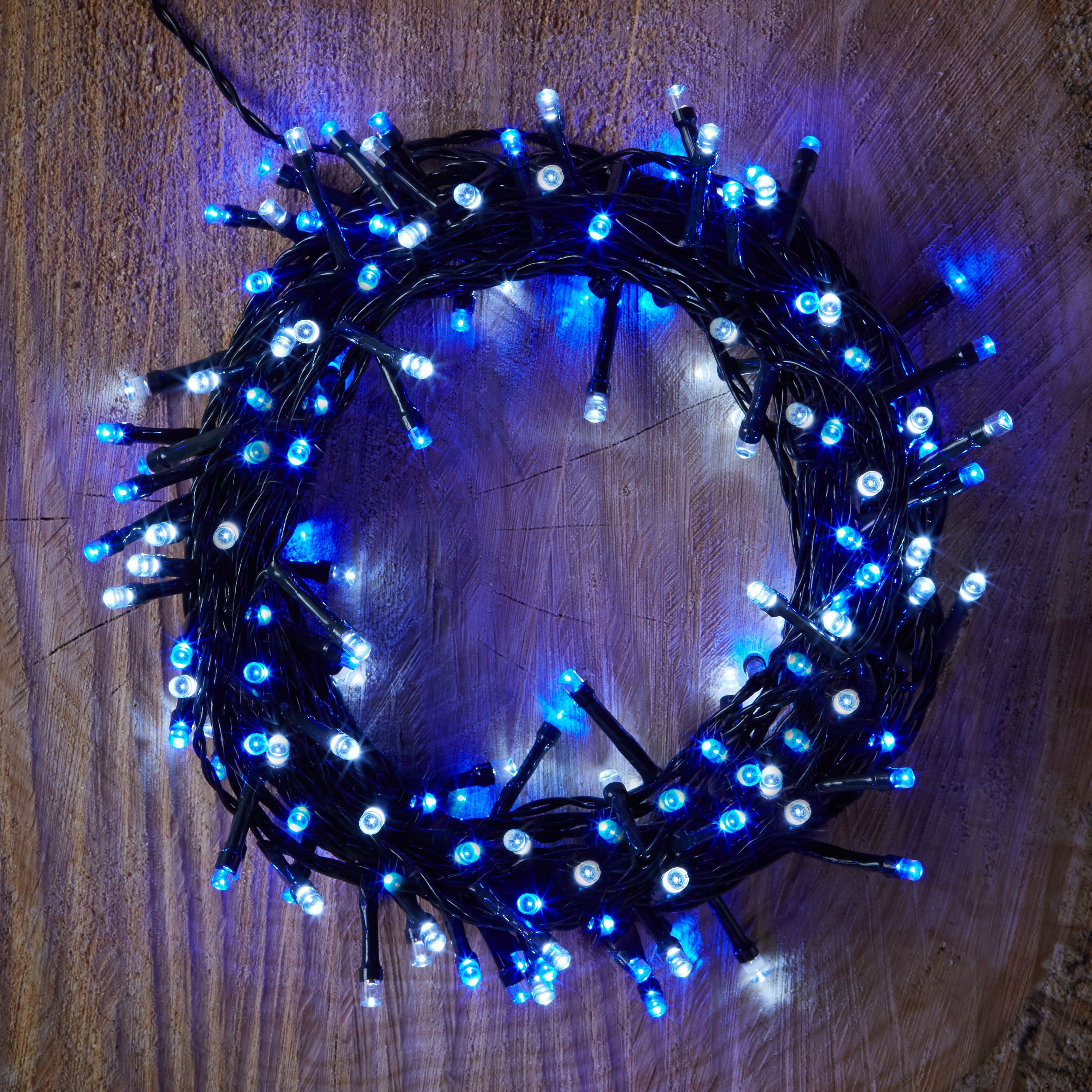 Led String Lights Diy : Battery Operated 120 Blue & White LED String Lights Departments DIY at B&Q
