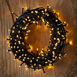 Battery Operated 240 Warm White LED String Lights