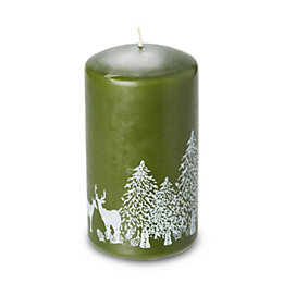 Green Woodland Print Candle