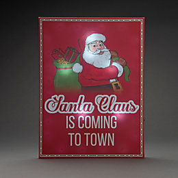 Battery Operated LED Santa Claus Canvas