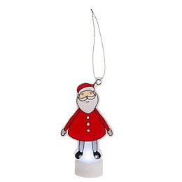 Battery Operated LED Santa Indoor Silhouette