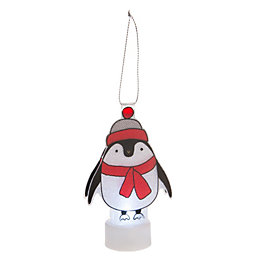 Battery Operated LED Penguin Indoor Silhouette