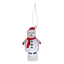 Battery Operated LED Snowman Indoor Silhouette