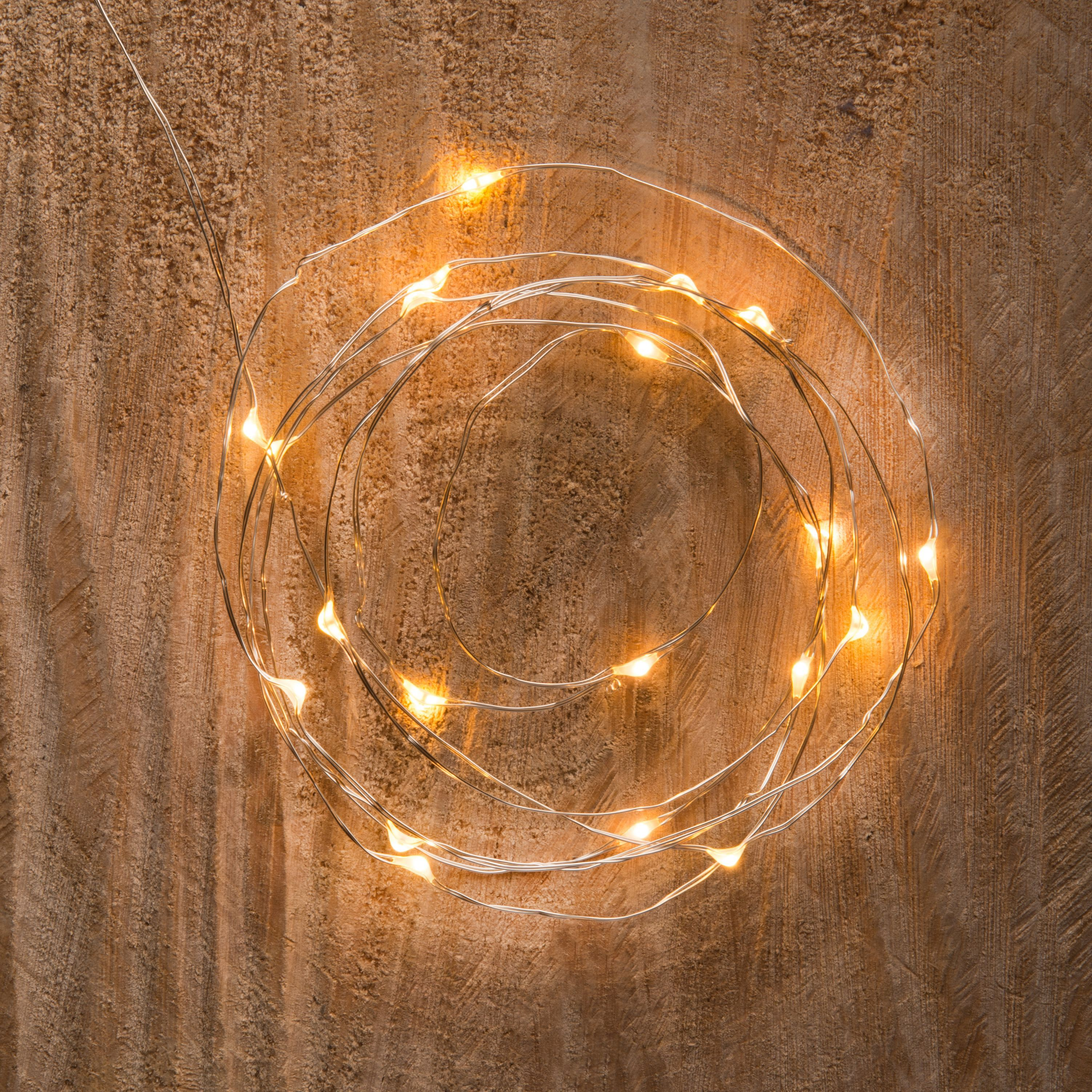String Lights B And Q : Battery Operated 20 Warm White LED String Lights Departments DIY at B&Q