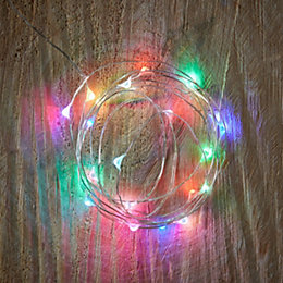 Battery Operated 20 Colour Changing LED Copper Wire