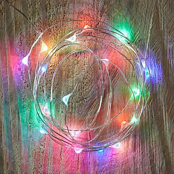 multicolour copper wire lights