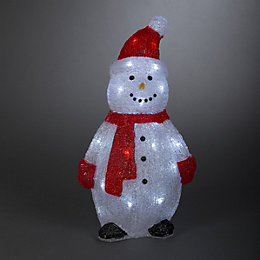 Battery Operated LED 3D Musical Snowman Silhouette