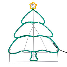 LED Tree Rope Silhouette