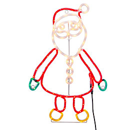 LED Santa Full Body Rope Silhouette