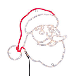 LED Santa Face Rope Silhouette